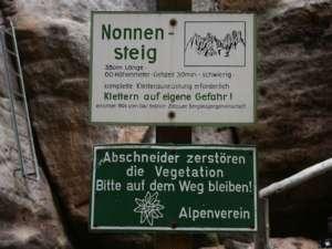 Klettersteig Jonsdorf : Klettersteig